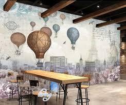 World Timeline Hot Air Ballon Art Art Wall Murals Wallpaper Decals Pri Idecoroom