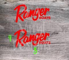 2x Ranger Boats Logo Decal Vinyl Sticker Decal Etsy In 2020 Ranger Boats Boat Decals Vinyl Sticker