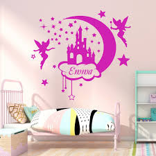 Hot Offer 6af3 Custom Name Fairy Castle Wall Stickers Decor For Kids Room Girl S Room Decoration Removable Decal Sticker Mural Muursticker Cicig Co