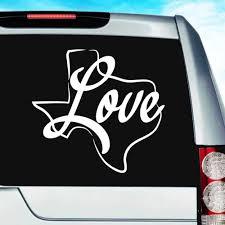 Texas Love Vinyl Car Truck Window Decal Sticker