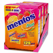 mentos chewy fruit mints spangler candy