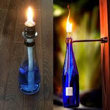 ceramic holders torch wine bottle oil