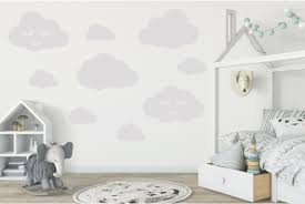 Cloud Wall Decals For Nursery Or Home Decorating Set Of 15 Cobalt Jack