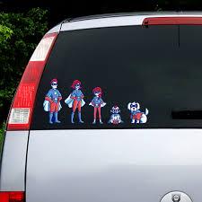 Family Car Decals Superhero Family Cat Family Decal Walmart Com Walmart Com