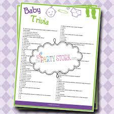 baby shower trivia game printable boy