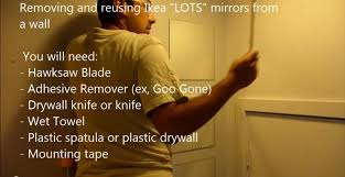 remove and reuse ikea lots mirrors