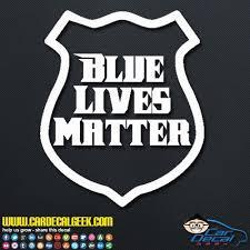 Blue Lives Matter Police Badge Car Window Laptop Wall Decal Sticker
