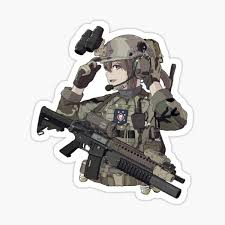 Military Girl Stickers Redbubble