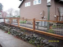 Hog Panel Fence Hog Wire Fence Backyard Fences Fence Design