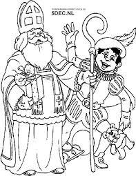 Sinterklaas Knutselen Sinterklaas Kleurplaten Sint En Piet
