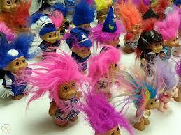 huge lot 60 trolls troll dolls big