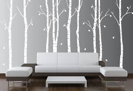 Large Wall Birch Tree Nursery Decal Forest Kids Vinyl Sticker Leaves 1263 Innovativestencils