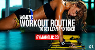 workout routine to get strong and toned