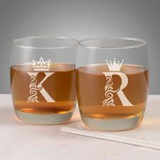 queen personalized whiskey glasses