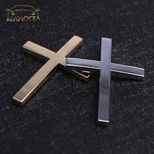 Reamocea Black Gold Car Accessories Emblem Motorcycle Badge Logo Jesus Christian Religious Decals Cross Chrome 3d Metal Sticker Aliexpress