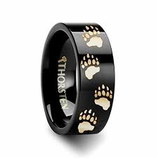deer hoof print tungsten ring 6mm wide