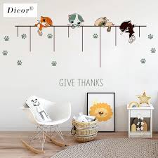 Original Dicor Creative Diy Cartoon Wall Sticker Kids Children Room Photo Collection Record Life Wall Decals House Decoration Wall Stickers Aliexpress