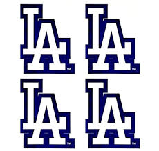 Amazon Com Set Of 4 La Dodgers Team Logo Stickers Four Individual Official Major League Baseball Helmet Emblems Mlb Los Angeles Toys Games