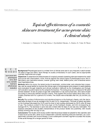 topical effectiveness of a cosmetic