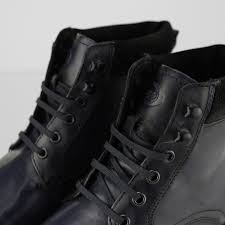panzer mens leather casual boots blue