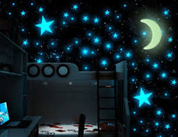 Hot 100pcs Stars 1 Moon 3d Diy Glow In The Dark Bedroom Wall Art Stickers Decor Diy Wall Stickers Kids Bedroom Decor Wall Stickers Home Decor