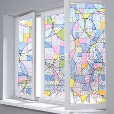 color circles door glass stickers