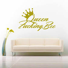 Queen Fucking Bee Funny Vinyl Car Window Decal Sticker
