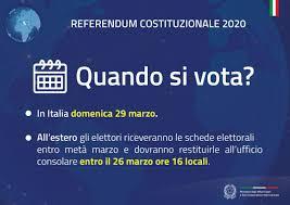 REFERENDUM COSTITUZIONALE 2020