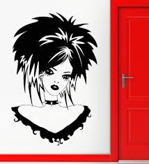 Teen Girl Vinyl Decal Gothic Sexy Beautiful Hairstyle Wall Stickers Sticker Wall Decal Stickers Charactersdecal Car Aliexpress