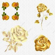 الورد الذهبي ذهب ورود اوراق اشجار Png وملف Psd للتحميل مجانا