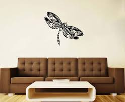 Dragonfly Vinyl Decal Flying Adder Wall Sticker Insect Animals Etsy