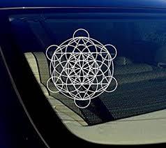 Amazon Com Owntheavenue Merkaba Leaf Sacred Geometry Vinyl Decal Sticker Kabbalah Math Merkaba White Automotive