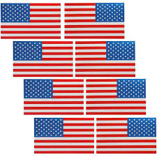 8 Pack Us American Flag Window Decal Reflective Car Stickers 5 X 3 Inches Usa Flag Patriotic Stars Sticker For Trucks Car Window Support Us Military Memorial Day Patriots Veterans Day 4th