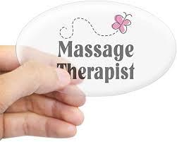 Amazon Com Cafepress Pretty Massage Therapist Oval Sticker Oval Bumper Sticker Euro Oval Car Decal Home Kitchen