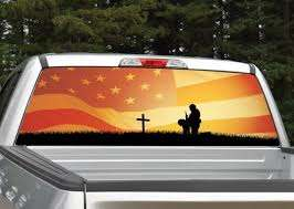 Fallen Soldier American Flag Rear Window Graphic Decal For Etsy