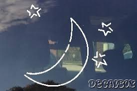 Crescent Moon Decals Stickers Decalboy