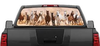 Wild Horses Running Rear Window Graphic Decal For Truck Suv Etsy