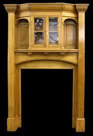 antique edwardian art and crafts oak