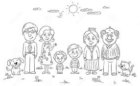 50 bức tranh tô màu gia đình đẹp nhất dành cho bé - Zicxa books