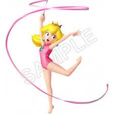 Super Mario Bros Princess Peach Dancing With The Ribbon