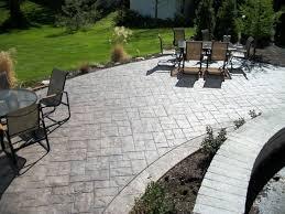 concrete patio designs best cement
