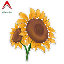 Aliauto Flowers Car Stickers Beautiful Sunflower Accessories Decor Vinyl Decal For Honda Crv Vw Passat B5 Renault 15cm 13cm Car Stickers Aliexpress