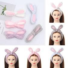 1pcs rabbit bunny ear makeup headband