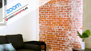 One of zoom's more fun features is virtual backgrounds, which lets you display an image or video. Brick Wall Zoom Video Conference Background