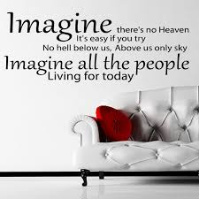 John Lennon Imagine Song Lyrics Wall Sticker Decal World Of Wall Stickers
