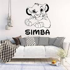 Mega Sale 9c18e Cute Custom Name Lion King Simba Wall Stickers Vinyl Wallpaper For Kids Rooms Rio Lion Sticker Room Wall Decal Stickers Muraux Nd Rankingrk Co