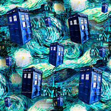 tardis wallpaper teal swirls starry