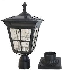 2 Pack Solar Post Lights Outdoor Post Cap Light For Fence Deck Warm White Lamp Vinyl