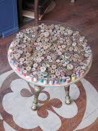 interesting diy spool side table