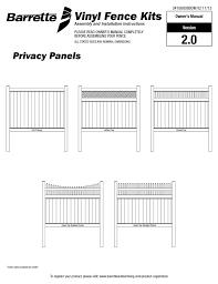 Freedom 73014498 Ready To Assemble Bexley White Vinyl Vinyl Fence Panel Installation Guide Manualzz